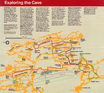Schematic Cave Map, Wind Cave National Park, South Dakota, United States