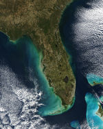 Turbid waters off Florida
