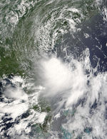 Tropical Storm Alex (01L) off Florida