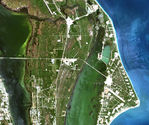 Satellite Image, Photo of Grand Cayman Island, Cayman Islands