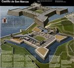 Schematic Map of Castillo de San Marcos National Monument, Florida, United States