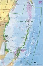 Biscayne National Park Map, Florida, United States