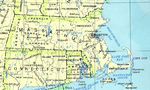 Massachusetts State Map, United States
