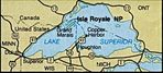 Area Map of Isle Royale National Park, Michigan, United States