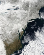 Snow across the Mid-Atlantic United States
