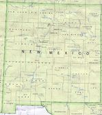 New Mexico State Map, United States