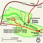 Park Map of Allegheny Portage Railroad National Historic Site, Pennsylvania, United States