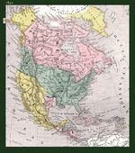 North America historical map 1845