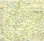 West Virginia State Map, United States