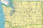 Washington State Map, United States