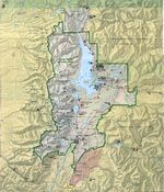 Mapa de Relieve Sombreado del Parque Nacional Grand Teton, Wyoming, Estados Unidos