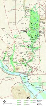 Rock Creek Park Map, Washington D.C., United States