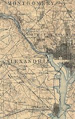 Mapa de la Secci�n Occidental de Washington D.Circa con Alexandria, Virginia 1894