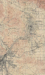 Los Angeles (East) City Map, California, United States 1900