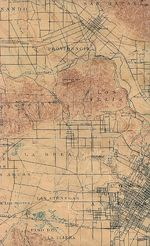 Los Angeles (West) City Map, California, United States 1902