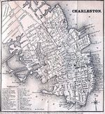 Charleston City Map, South Carolina, United States 1849