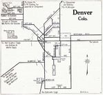 Denver City Map, Colorado, United States 1917