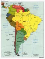 South America Political Map 1998