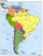 South America Political Map 1995