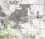 Marion Topographic City Map, Iowa, United States