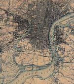 Philadelphia City Map, Pennsylvania, United States 1898