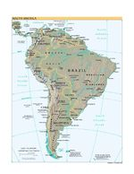 South America Shaded Relief Map