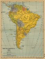Amrica del Sur en 1910
