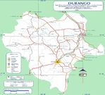 Map of Durango (State), Mexico