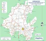 Map of Hidalgo (State), Mexico