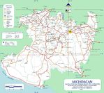 Map of Michoacan (State), Mexico
