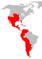 The Spanish colonies of America 1783
