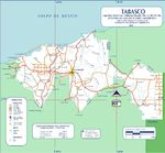 Mapa de Tabasco (Estado), Mexico