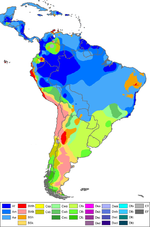Mapa climtico de Amrica del Sur 2007