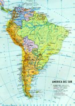 South America political and hydrographic Map