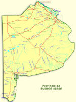 National Roads Map, Buenos Aires Prov., Argentina