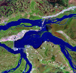 Satellite Image, Photo of Hydroelectric Power Station of Yaciretá-Apipé (EBY), Argentina - Paraguay