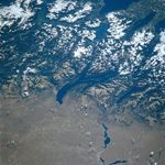 Satellite Image, Photo of Lago (Lake) Nahuel Huapi, Argentina
