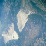 Satellite Image, Photo of Grand Salt Flats, Argentina