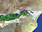 Satellite Image, Photo of Rawson City, Prov. Chubut, Argentina