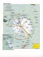 Map of Antarctica 1997