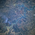 Satellite Image, Photo of the Tres Marias Reservoir, Minas Gerais, Brazil