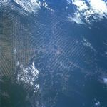 Satellite Image, Photo of Town of Ariquemes, Deforestation, Rondonia, Brazil