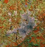 Satellite Image, Photo of Belo Horizonte City, Brazil