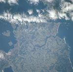 Satellite Image, Photo of Puerto Montt, Maullin River, Chile