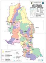 Mapa del Departamento del Norte de Santander, Colombia