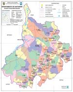 Santander Department Map, Colombia