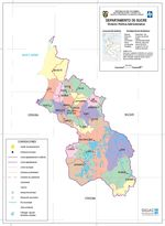 Sucre Department Map, Colombia