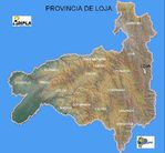 Mapa de la Provincia de Loja, Ecuador