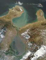 Satellite Image, Photo of Maracaibo City, Lake, Gulf of Venezuela
