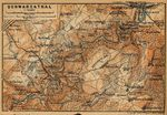 Schwarza-Tal Map, Germany 1910